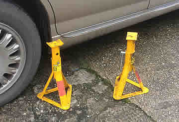 How to use Axle Stands for Vehicle Support